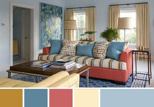 3 принципа подбора цвета в интерьере