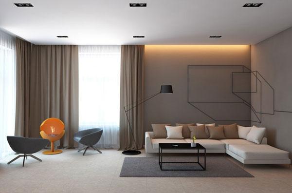 Напольные покрытия для гостиной в стиле минимализм
