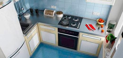 Малогабаритная угловая кухня