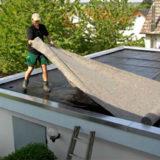 Цементно-песчаная стяжка: как обустроить ее на плоской крыше гаража