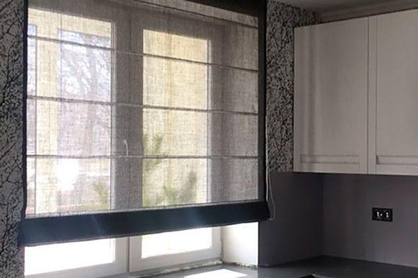 Римские шторы – изюминка интерьера