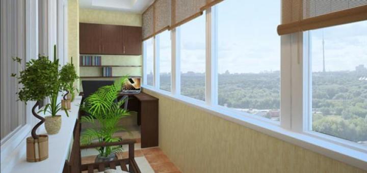 Как выполнить отделку балкона