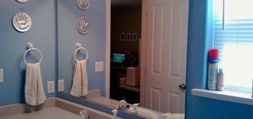 Устанавливаем зеркало в ванную комнату