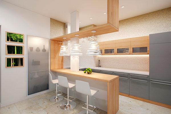Барная стойка на кухне – делаем своими руками